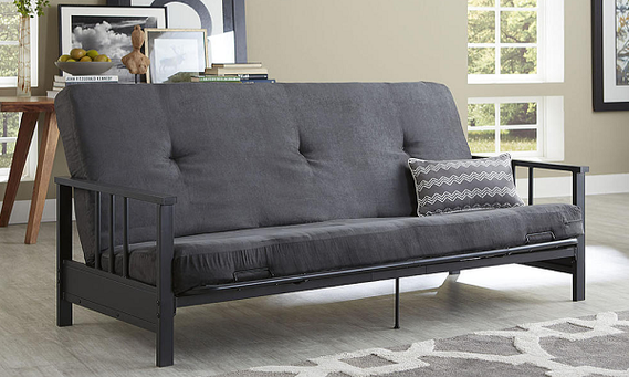 Pick Up This Essential Home Watson Black Metal Arm Futon At Kmart For Only 135 15 After Promo Code Campus15 Checkout
