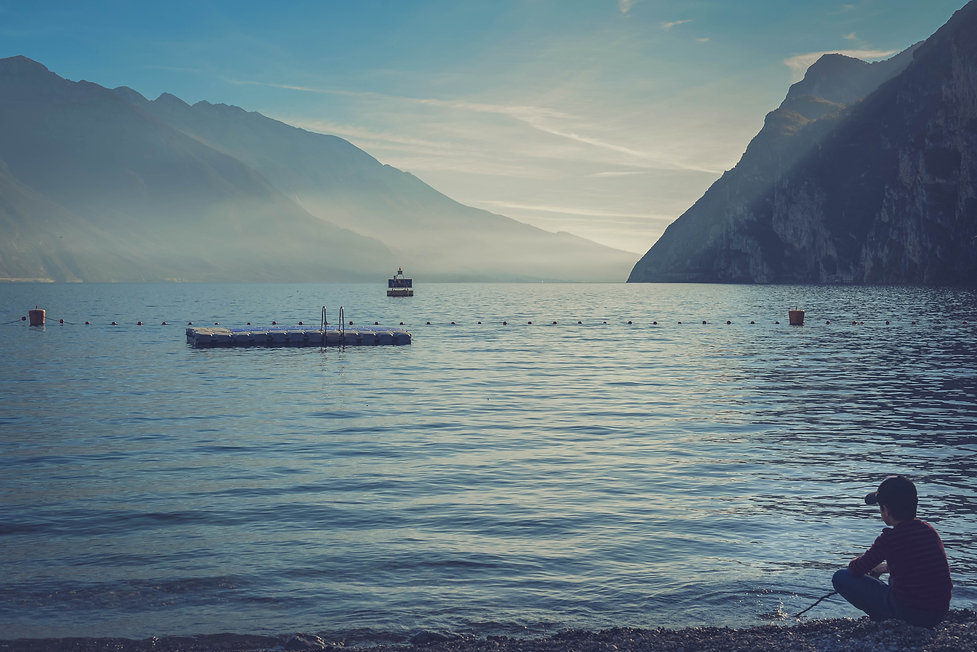 The boy on the lake.jpg