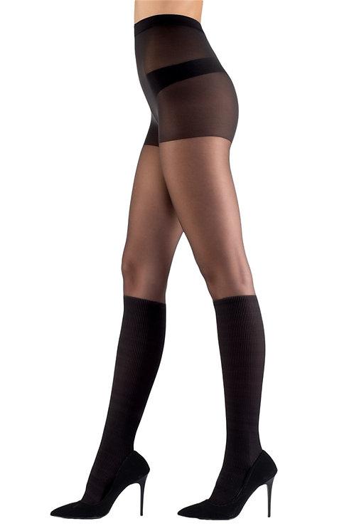 Mite Love Külotlu Çorap Fantazi Siyah