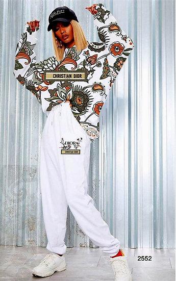 Şal Desenli Dior İkili Takım