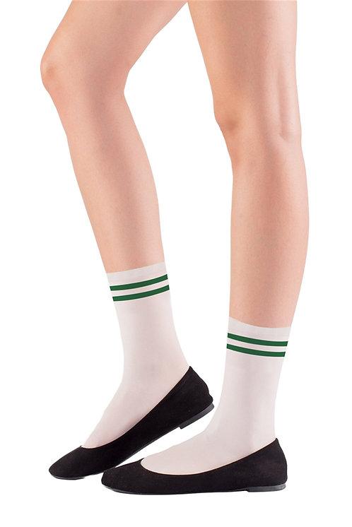 Mite Love Soket Çorap Yeşil Çizgili