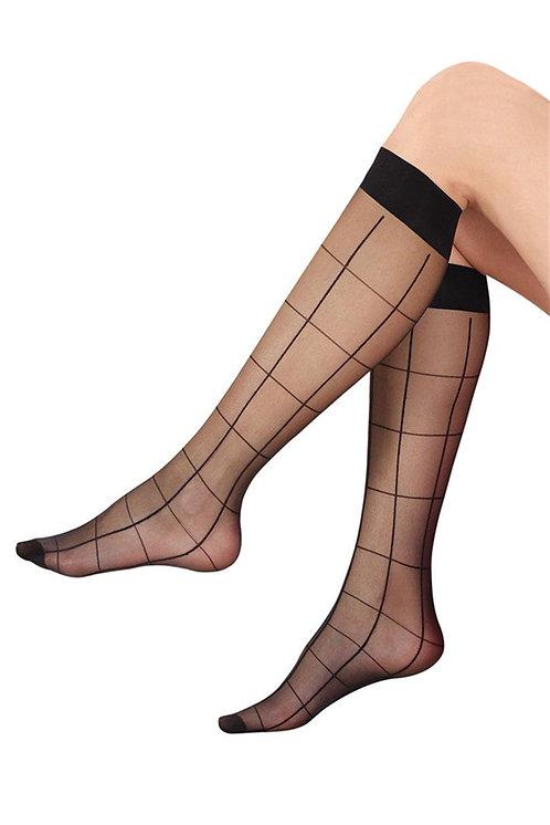 Mite Love Dizaltı Çorap Baklava Çizgi Desenli
