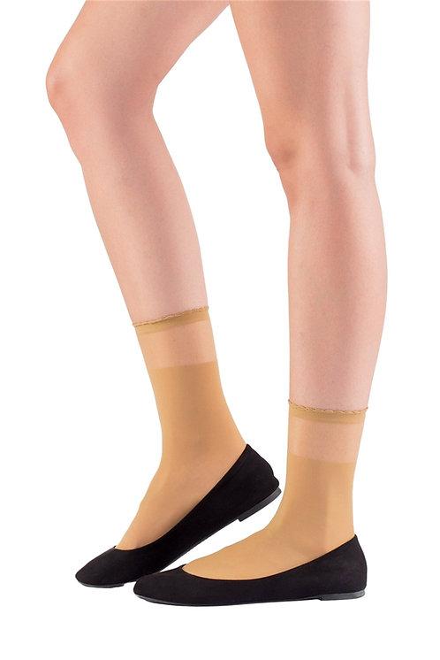 Mite Love Soket Çorap Ten Transparan