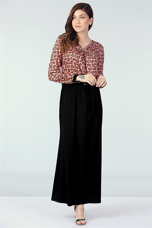 Kuşak Kemer Detaylı Elbise - Mercan