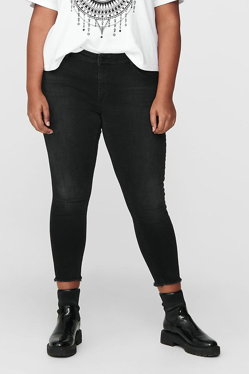 Büyük Beden Power Likra Normal Bel Regular Skinny Fit Jeans - Siyah