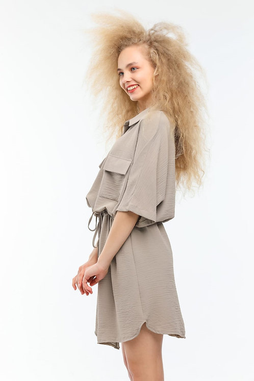 Aerobin Tunik Elbise - Bej