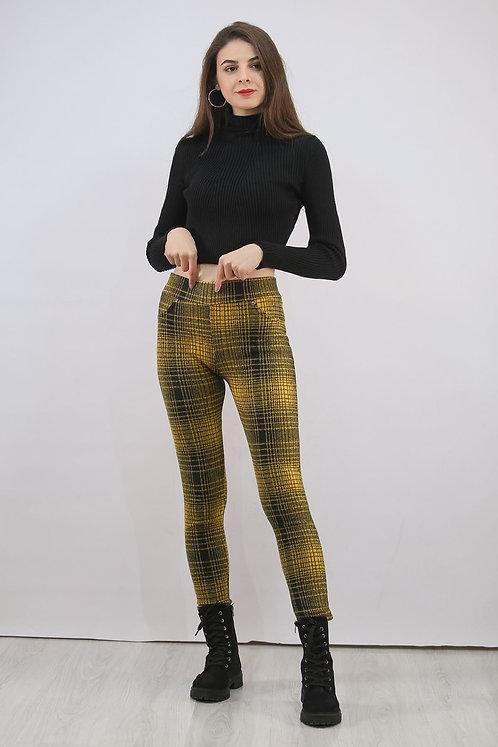Kaşe Tayt - Sarı Siyah