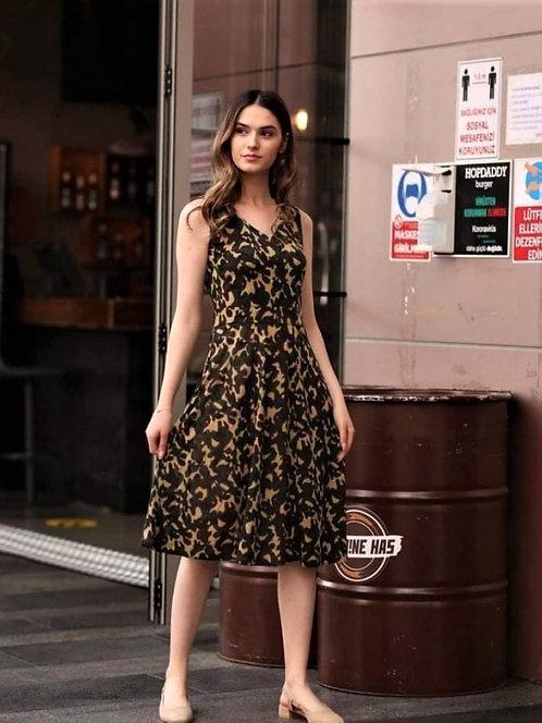 Kamuflaj Desenli Elbise