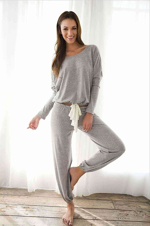Eşofman Pijama Alt Üst Takım - Gri