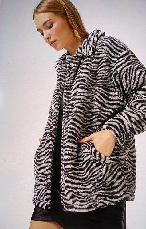 Zebra Desenli Peluş