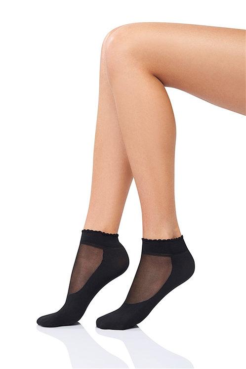 Mite Love Soket Çorap Tabanlı Siyah
