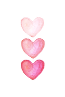 three-pink-watercolor-hearts-artur-szafr