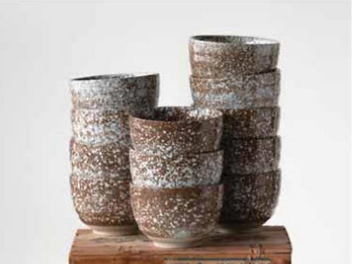 Stoneware Splatterware Bowl, Brown