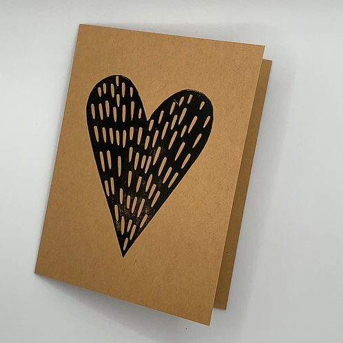 Pine Tree Prints Greeting Card - Heart