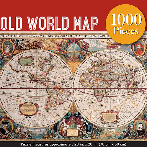 Puzzle - Old World Map