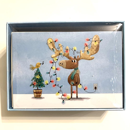 Holiday Greeting Cards Box Set - Deck the Antlers