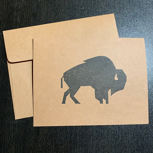 Pine Tree Prints Greeting Card - Bison