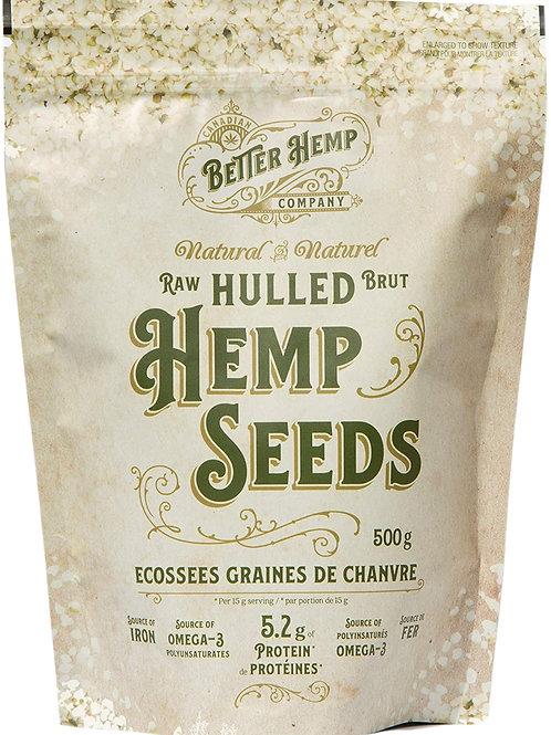 Raw Hulled Hemp Seeds - by Better Hemp Company