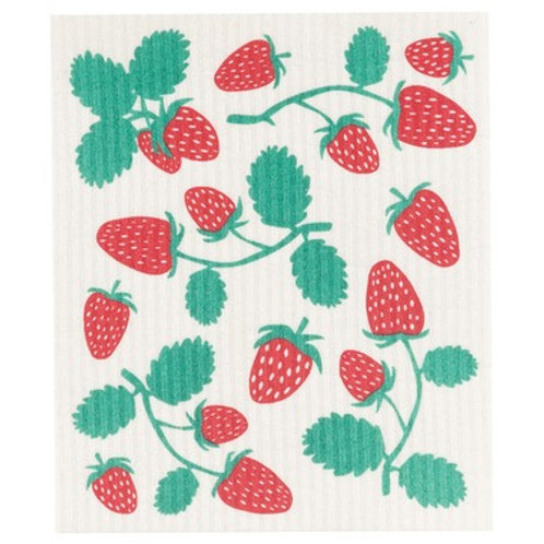 Swedish Dish Cloth - Strawberry