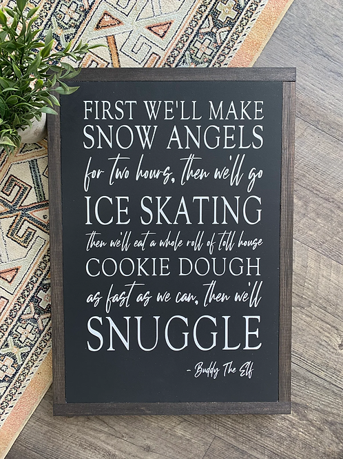 Chalked Signs - Buddy The Elf