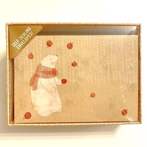 Holiday Greeting Cards Box Set - Juggling Polar Bear