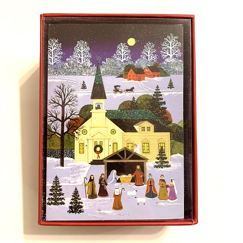 Holiday Cards Box Set - Glitter Accents