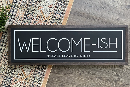 Chalked Signs - Welcome-ish
