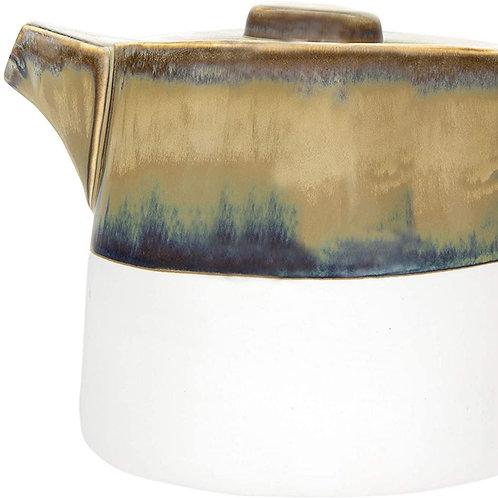 Reactive Glaze Stoneware Teapot - Green
