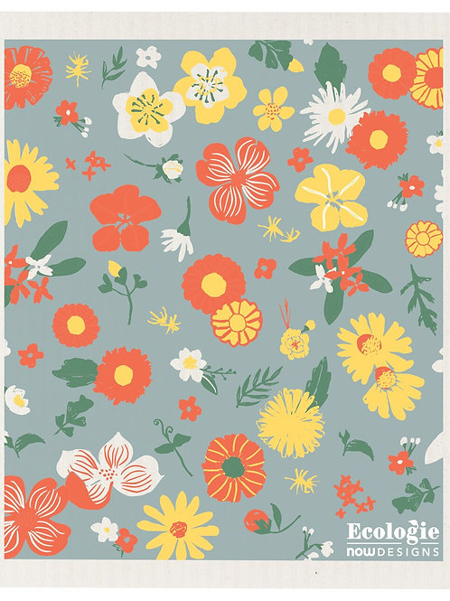 Swedish Dish Cloth - Flowers of Month