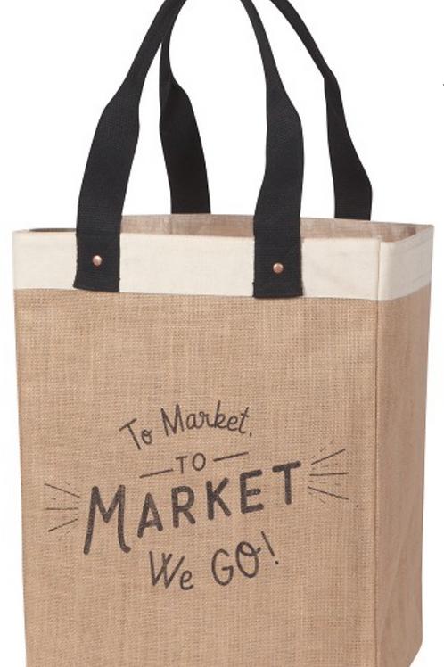Market Tote - To Market We Go