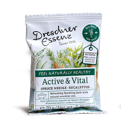Dresdner Essenz Active & Vital Sparkling Bath Tablet