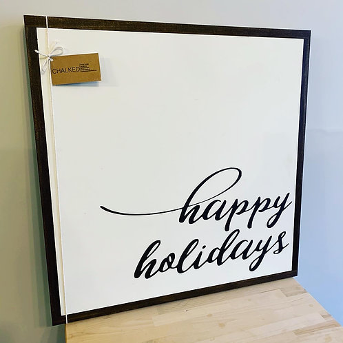 Chalked Signs - Happy Holidays