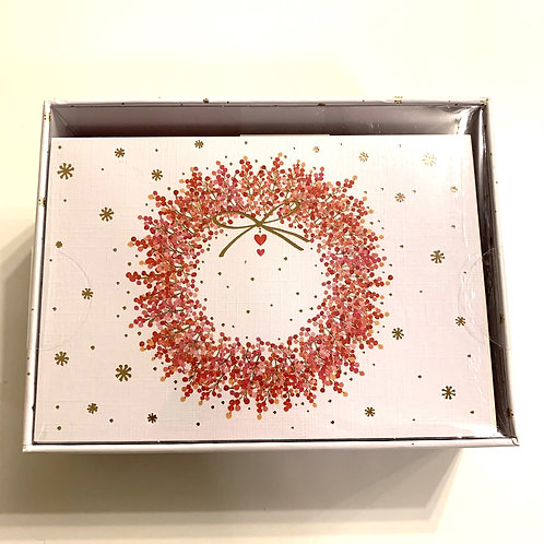 Holiday Greeting Cards Box Set - Winterberry Wreath