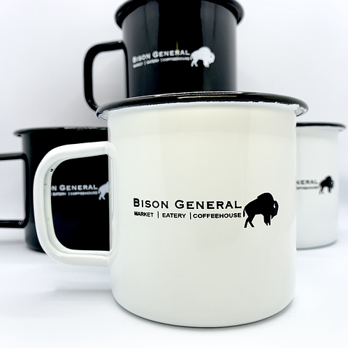 Bison General Enamel Mug