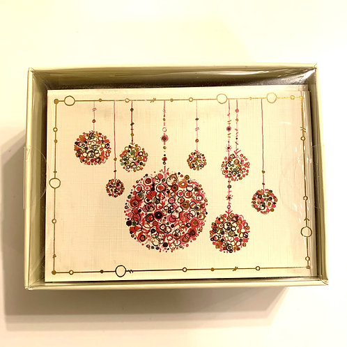Holiday Greeting Cards Box Set - Multicolored Ornaments