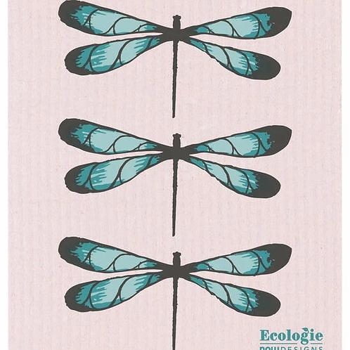 Swedish Dish Cloth - Dragonfly