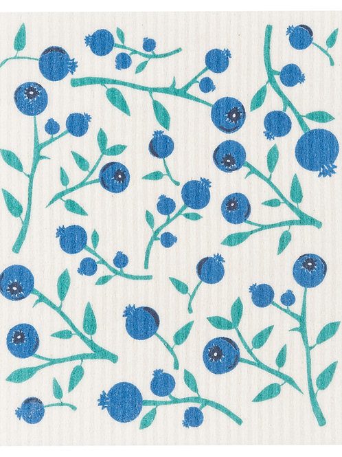 Swedish Dish Cloth - Blueberries