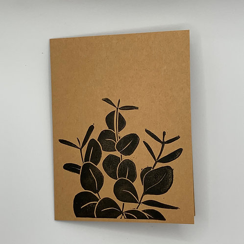 Pine Tree Prints Greeting Card - Eucalyptus