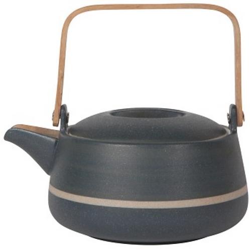 Orb Teapot - Navy Stripe