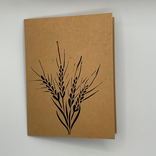 Pine Tree Prints Greeting Card - Wheat