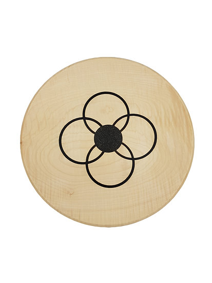FLORAL RINGS  - RIPPLED SYCAMORE PLATTER