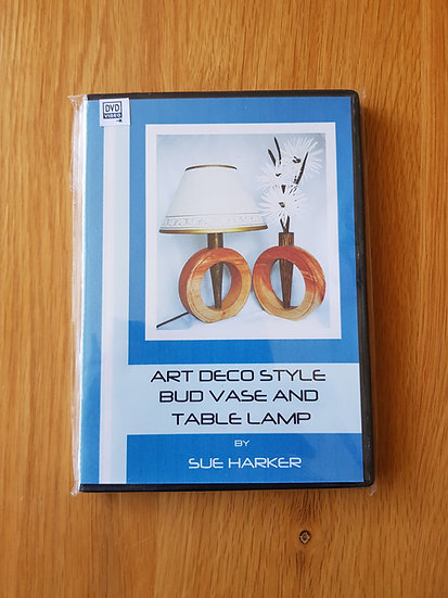 ART DECO STYLE BUD VASE AND TABLE LAMP
