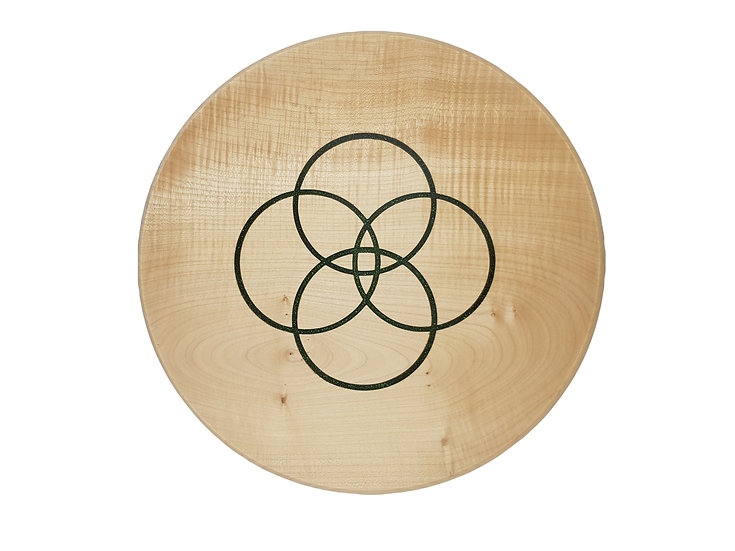 RINGS OF GREEN - RIPPLED SYCAMORE PLATTER