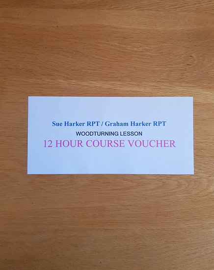 2 DAY (12HOURS) WOODTURNING COURSE VOUCHERS
