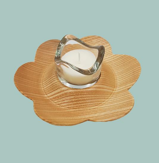 FLOWER CANDLE/T-LIGHT HOLDER