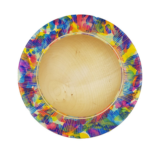 COLOURED RIM BOWL