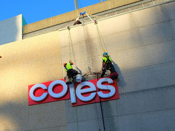Rope Access sign installations
