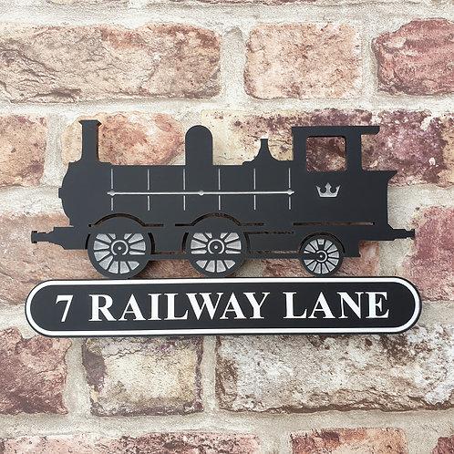Steam Train House Sign /Workshop/Den/Hobby Room