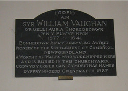 Plaque at St. Cyndeyrn's