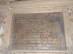 Plaque Monument to Lady Anne